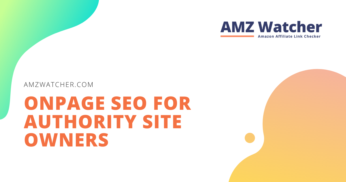 onpage seo for authority site owners